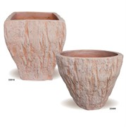 MCarr 24PC Tree Bark Planter PLT Terracotta