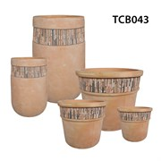 MCarr 33PC MoasicTerra Cotta Planter Plt
