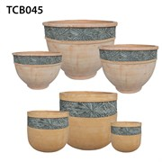 MCarr 27PC MosaicTerra Cotta Planter Plt