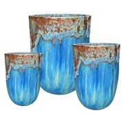 MCarr 12pc Volcanic Tall Round Planter Pallet Skyfall