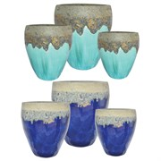 MCarr 12pc Volcanic Tall Hipster Planter Pallet Mixed Colors