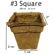 Summit Cow Pot #3 Square Loose (1176/CS)