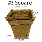 Summit Cow Pot #3 Square Loose (400/CS)