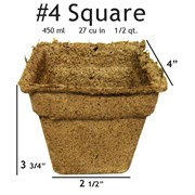 Summit Cow Pot #4 Square Loose (180/CS)