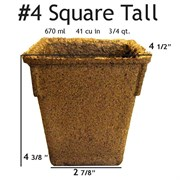 Summit Cow Pot #4 Square Loose (132/CS) Tall