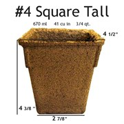 Summit Cow Pot #4 Square Loose (330/CS) Tall