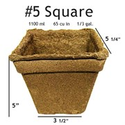 Summit Cow Pot #5 Square Loose (60/CS)