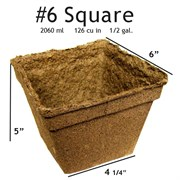 Summit Cow Pot #6 Square Loose (54/CS)