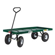 "Millside 24""X48"" Metal Deck Wagon With 4X10 Tires"