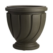"Novelty 22"" Spiral Urn Brown"