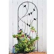 "Panacea 72"" Perched Bird Trellis Black"