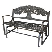 Painted Sky Glider Bench Tree Iron