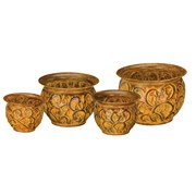 Regal Art Sm Planter Set 4 Rust Vines