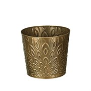 "Regal Art Tapered Planter 8"" Bronze Lotus"