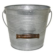 "Robert Allan 10"" Ribbed w/ Handle Galvanized"