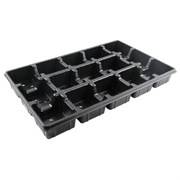 Grower Select 4.5In Square Transport Tray - Holds 15 - 70 Per Case