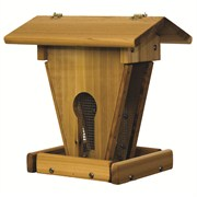 "Stovall Wood Peanut Sunflower Feeder With 1/4"" Mesh"