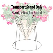 Grower Select Galvanized Cone Transport Stand - Fits 12in to 16in Cone Basket