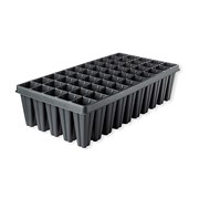 T.O. Plastics 50 Deep Sureroots Plug Tray PL-SR-50-DP-VH - Thermoformed - Black - Sold by 25 Per Case