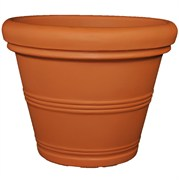Tusco 30in Rolled Rim Planter Terra Cotta