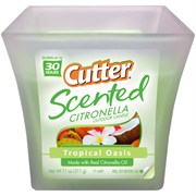 Cutter Scented Citronella Candle Tropical Oasis