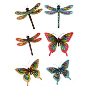 "VCS 18"" Colorful Splatter Butterfly & Dragonfly"