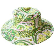 WWG Green Paisley Cotton Sun Hat